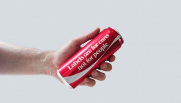 Coca-Cola se queda sin logo (por una buena causa)