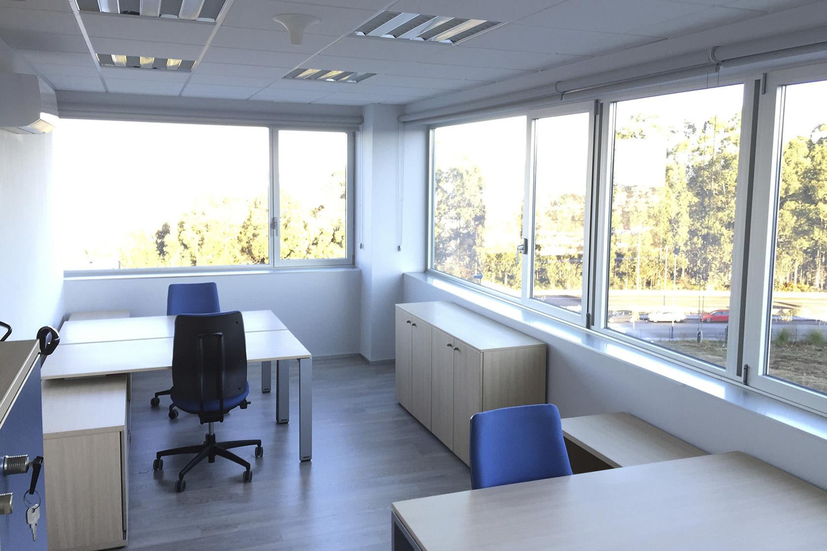 Alquiler de Despacho Doble. Espaciogeo Vigo Coworking