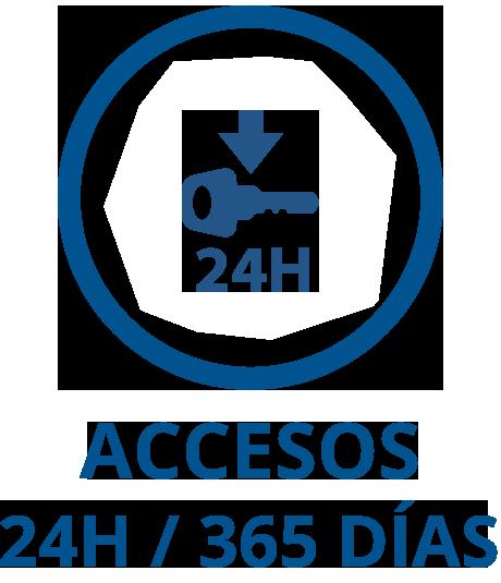 Accesos 24horas / 365dias Espaciogeo Vigo