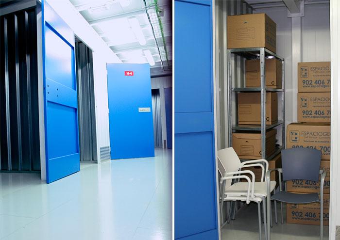 Alquiler de trasteros interiores en Espaciogeo Vigo