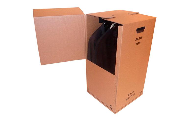 Caja armario de cartón para chaquetas, abrigos y vestidos