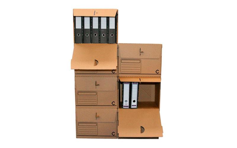 Caja de cartón para guardar archivadores tipo AZ