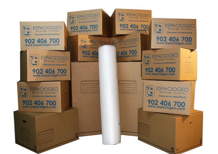 Comprar Pack Cajas y Rollo Burbuja para Mudanza en Vigo
