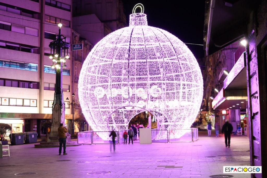 Bola de Navidad Rosa Vigo