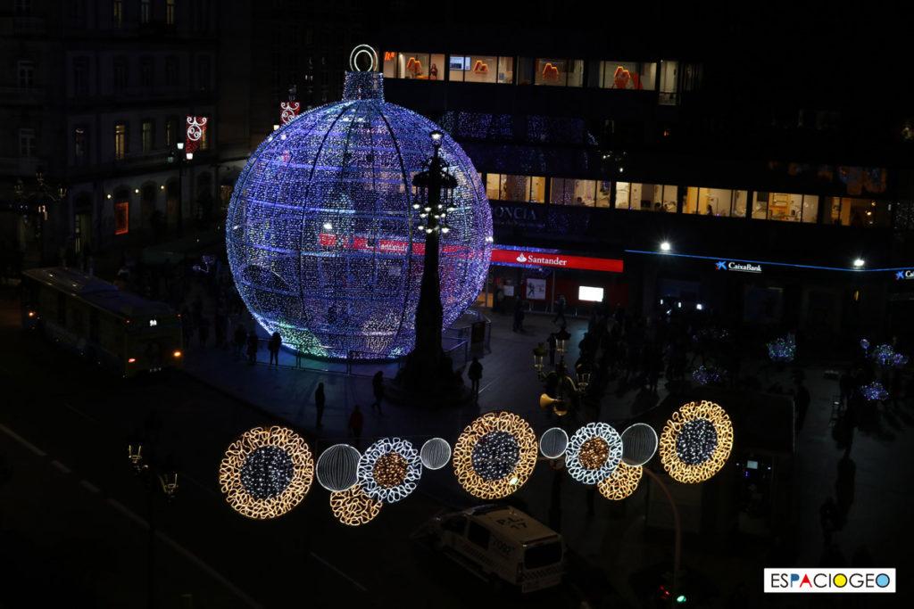 Bola de Navidad Vigo 2018 Farola Príncipe
