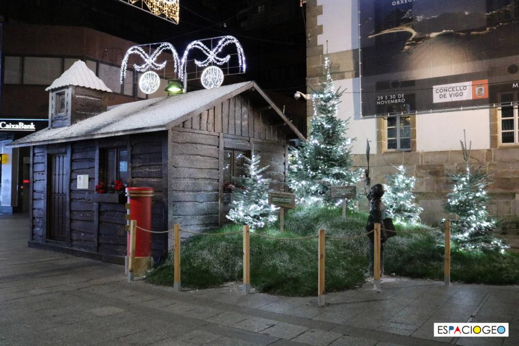 Cabaña de Papa Noel y Reyes Magos Navidad Vigo Calle Principe