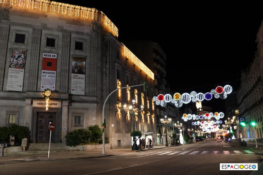Luces Navidad Centro Vigo Policarpo Sanz