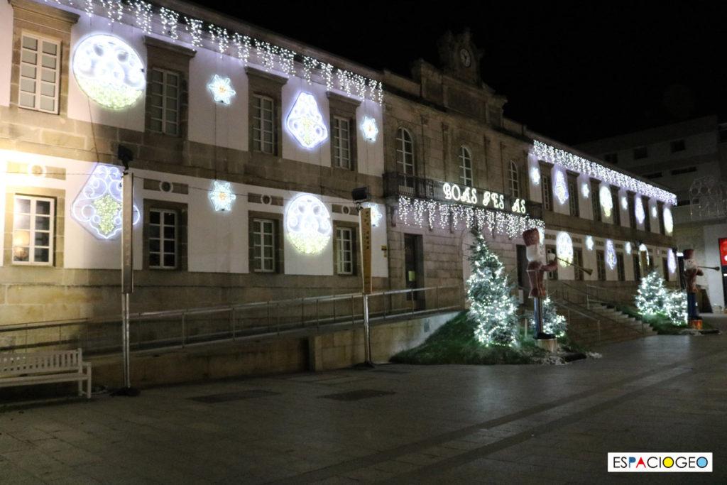 Iluminación de Navidad del Museo del Marco en Vigo