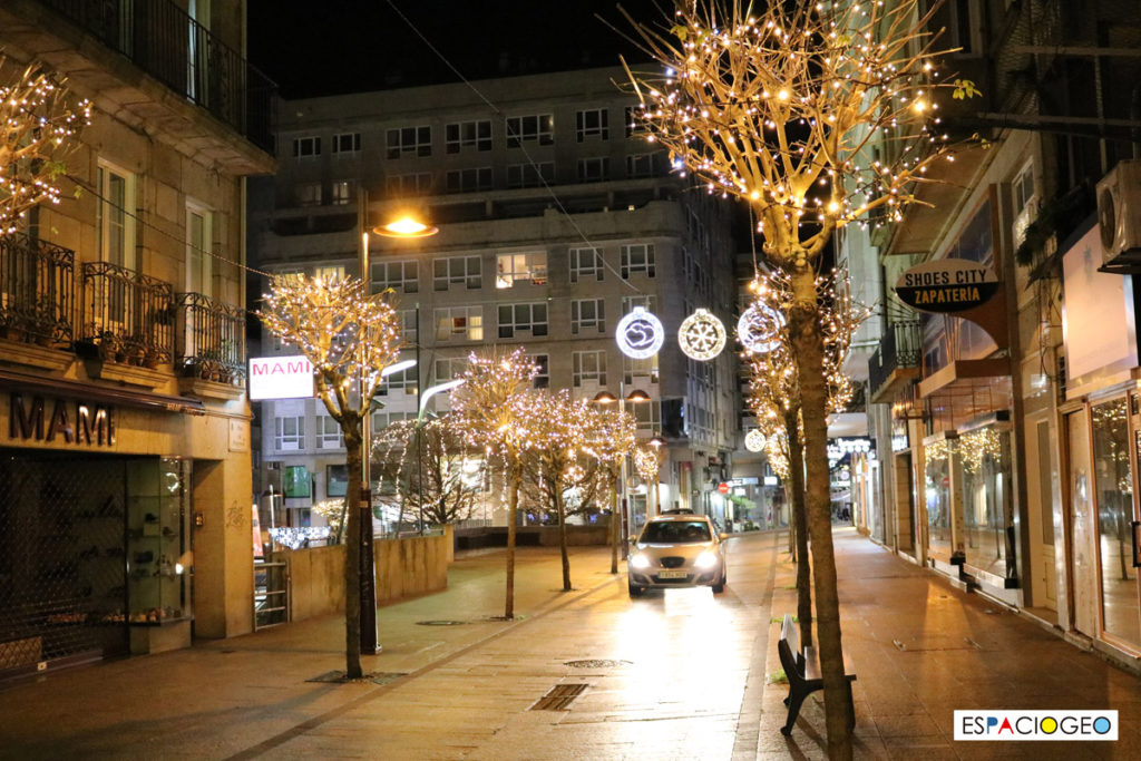 Luces de Navidad de la Calle Progreso en Vigo