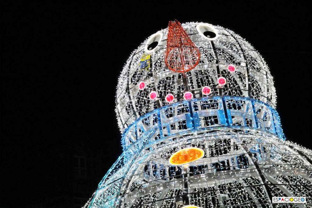 Muñeco de Nieve Luces Led Navidad Vigo Arenal