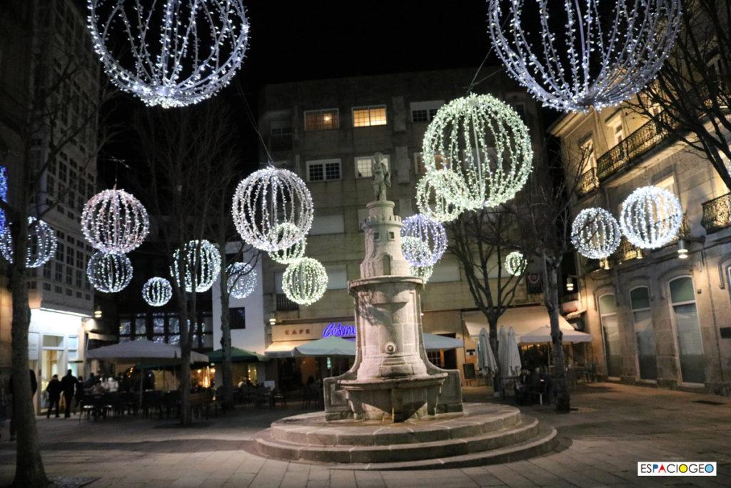 Praza de la Princesa en Vigo Iluminación Navidad