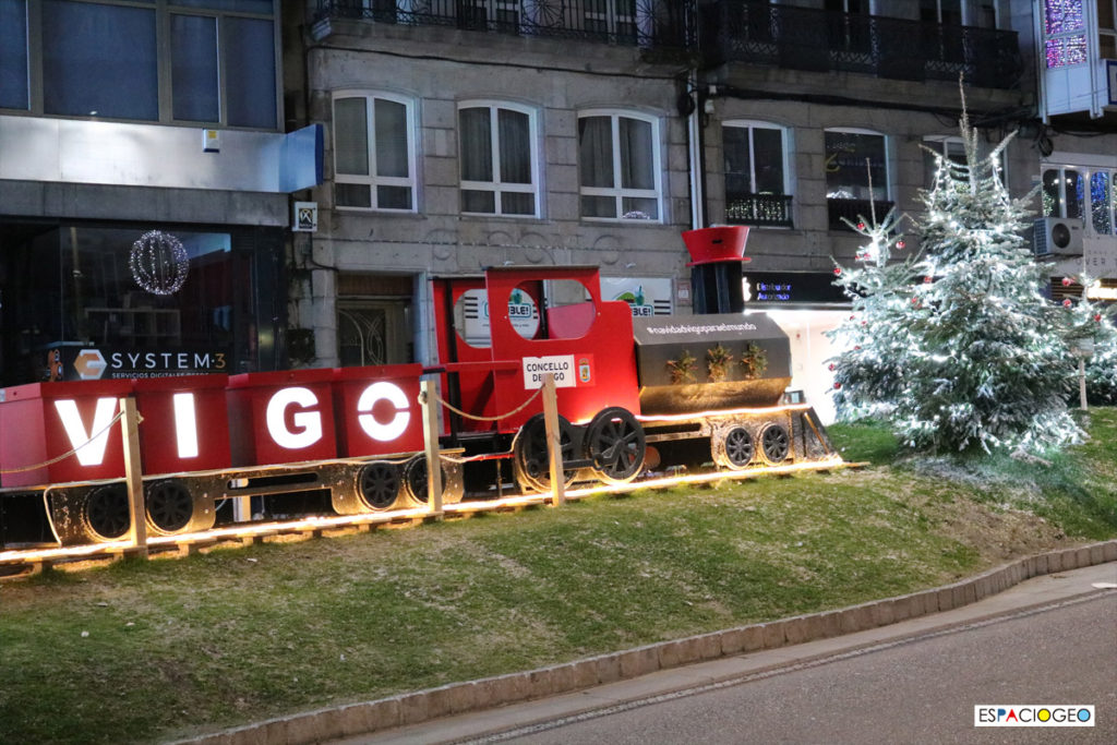 Tren de Navidad en Porta do Sol Vigo