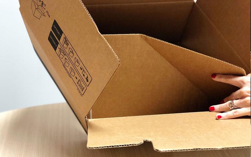 Caja de cartón para envíos grande desmontable