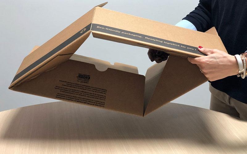 Caja de cartón para envíos grande de fácil montaje