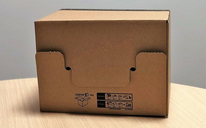 Caja de cartón para envíos mediana fácil montaje