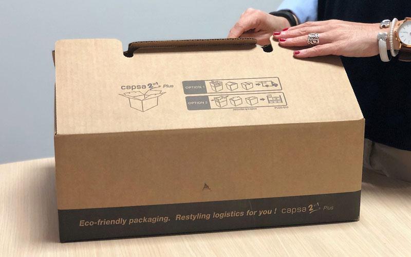 Caja de cartón para envíos plana desmontable