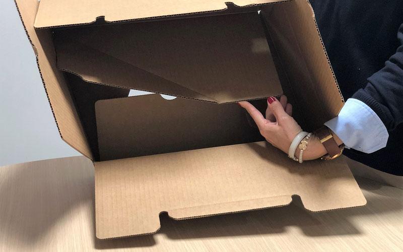Caja de cartón para envíos plana fácil montaje
