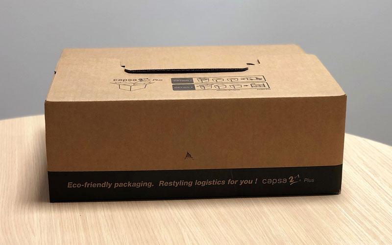 Caja de cartón para envíos plana