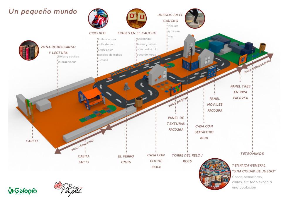 Área de Juegos Hospital Alvaro Cunqueiro. Proyecto para Bicos de Papel