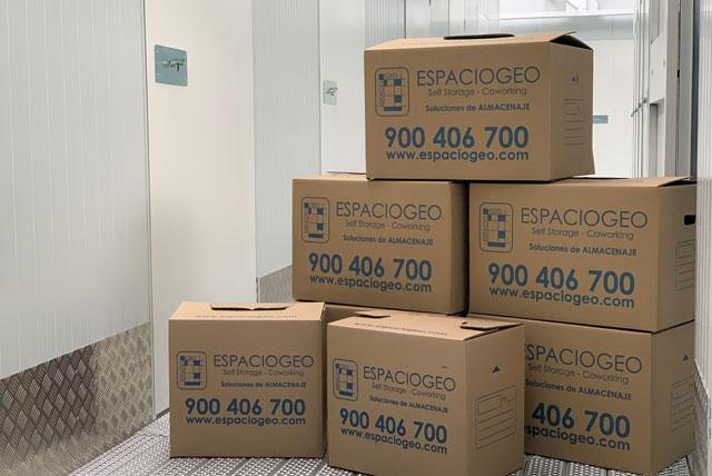 Cajas de varios tamaños en Centro Madrid Oeste. Espaciogeo