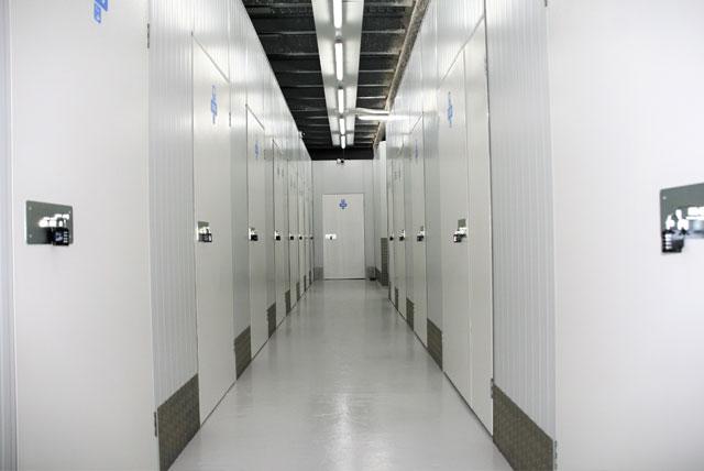 Interior pasillos trasteros en Boadilla. Espaciogeo Madrid Oeste